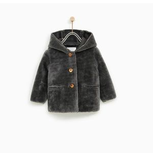 Zara Girls Double Sided 3 Length Quarter Coat